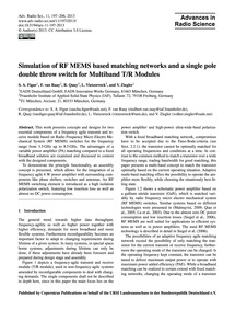Simulation of Rf Mems Based Matching Net... by Figur, S. A.