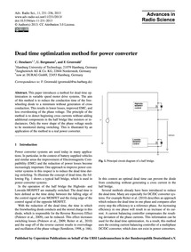 Dead Time Optimization Method for Power ... by Deselaers, C.