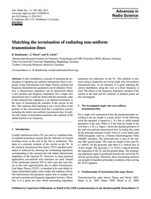 Matching the Termination of Radiating No... by Rambousky, R.