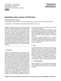 Quantitative Data Analysis of Esar Data ... by Phruksahiran, N.