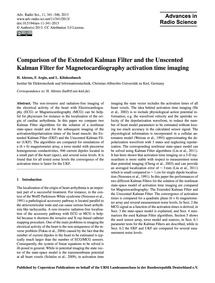 Comparison of the Extended Kalman Filter... by Ahrens, H.