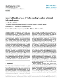 Improved Fault Tolerance of Turbo Decodi... by Geldmacher, J.