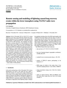 Remote Sensing and Modeling of Lightning... by Schmitter, E. D.