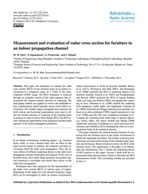 Measurement and Evaluation of Radar Cros... by Maw, M. M.