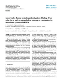 Indoor Radio Channel Modeling and Mitiga... by Wunderlich, S.