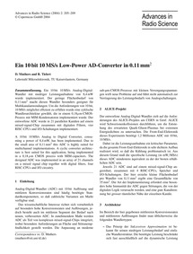 Ein 10 Bit 10Ms/S Low-power Ad-converter... by Muthers, D.