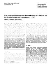 Berechnung Des Hochfrequenzverhaltens Ko... by Glock, H.-w.