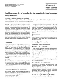 Shielding Properties of a Conducting Bar... by Fichte, L. O.