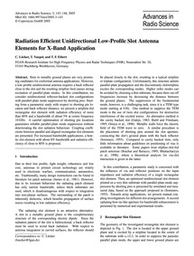 Radiation Efficient Unidirectional Low-p... by Löcker, C.