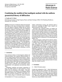 Combining the Multilevel Fast Multipole ... by Tzoulis, A.