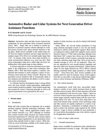 Automotive Radar and Lidar Systems for N... by Rasshofer, R. H.