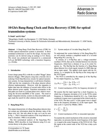 10Gb/S Bang-bang Clock and Data Recovery... by Dodel, N.