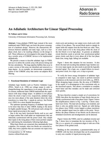 An Adiabatic Architecture for Linear Sig... by Vollmer, M.