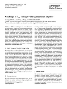 Challenges of VDd Scaling for Analog Cir... by Bargagli-stoffi, A.