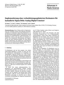 Implementierung Eines Verlustleistungsop... by Becker, M.