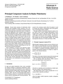 Principal Component Analysis in Radar Po... by Danklmayer, A.