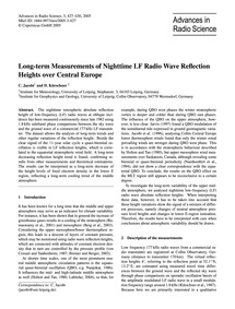 Long-term Measurements of Nighttime Lf R... by Jacobi, C.