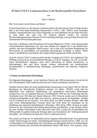 50 Jahre U.R.S.I.-landesausschuss in Der... by Albrecht, H. J.