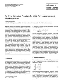 An Error Correction Procedure for Multi-... by Rolfes, I.