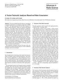A Vector Network Analyzer Based on Pulse... by Schulte, B.