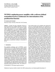 Wcdma Outphasing Power Amplifier with a ... by Gerhard, W.
