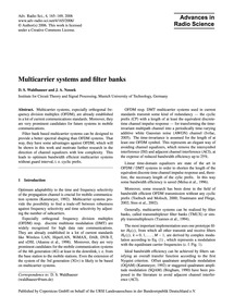 Multicarrier Systems and Filter Banks : ... by Waldhauser, D. S.