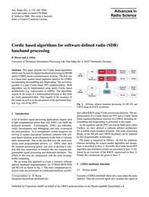 Cordic Based Algorithms for Software Def... by Heyne, B.