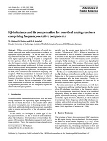 Iq-imbalance and Its Compensation for No... by Mailand, M.