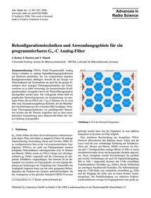 Rekonfigurationstechniken Und Anwendungs... by Becker, J.