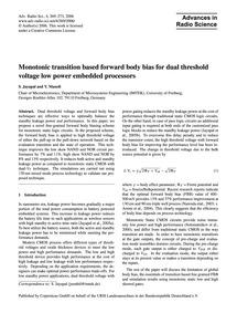 Monotonic Transition Based Forward Body ... by Jayapal, S.