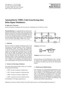 Automatisierte Vhdl-code-generierung Ein... by Spilka, R.