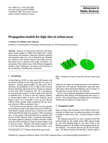 Propagation Models for High Sites in Urb... by Hecker, A.
