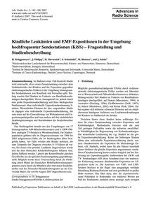 Kindliche Leukämien Und Emf-expositionen... by Brüggemeyer, H.