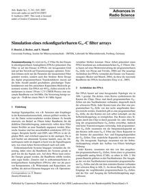 Simulation Eines Rekonfigurierbaren GM-c... by Henrici, F.