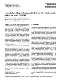 Numerical Modeling of the Equatorial Ele... by Klimenko, M. V.