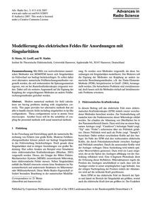 Modellierung Des Elektrischen Feldes Für... by Mente, D.