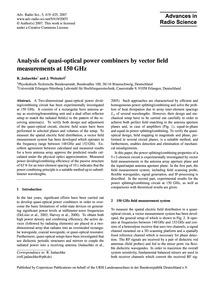 Analysis of Quasi-optical Power Combiner... by Judaschke, R.