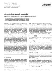 Airborne Field Strength Monitoring : Vol... by Bredemeyer, J.