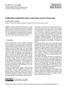 Calibration Method for Direct Conversion... by Müller, R.