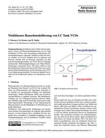 Nichtlineare Rauschmodellierung Von Lc T... by Thiessen, T.
