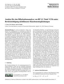 Ansätze Für Eine Bifurkationsanalyse Von... by Zorn, C.