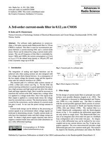 A 3Rd-order Current-mode Filter in 0.12 ... by Kolm, R.