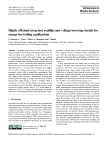Highly Efficient Integrated Rectifier an... by Maurath, D.