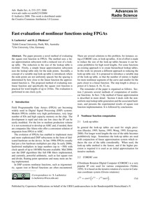 Fast Evaluation of Nonlinear Functions U... by Lachowicz, S.
