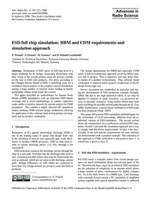 Esd Full Chip Simulation: Hbm and Cdm Re... by Franell, E.