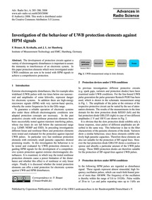 Investigation of the Behaviour of Uwb Pr... by Brauer, F.