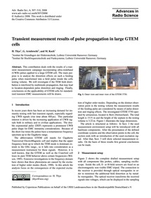 Transient Measurement Results of Pulse P... by Thye, H.