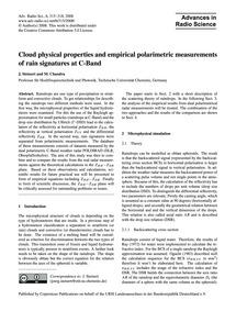Cloud Physical Properties and Empirical ... by Steinert, J.