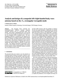 Analysis and Design of a Composite Left-... by Weitsch, Y.
