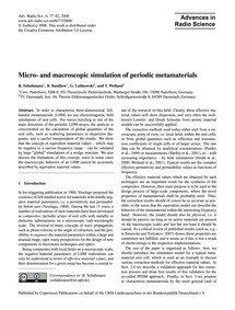 Micro- and MacRoscopic Simulation of Per... by Schuhmann, R.